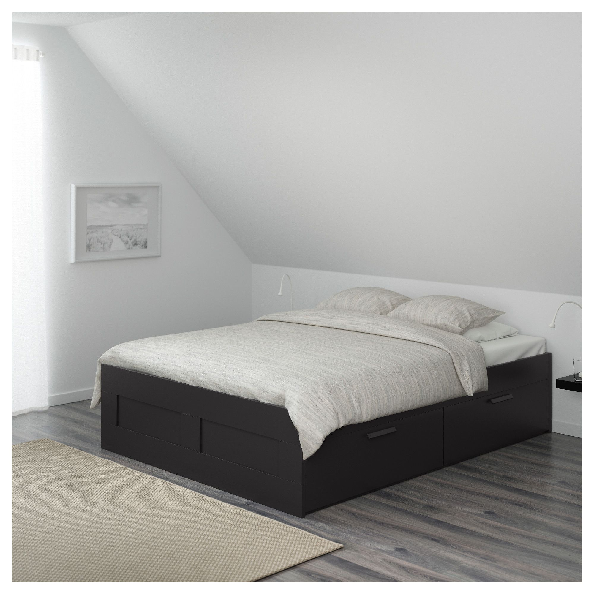 Ikea Brimnes Bed Frame With Storage Black Luroy Bed Frame