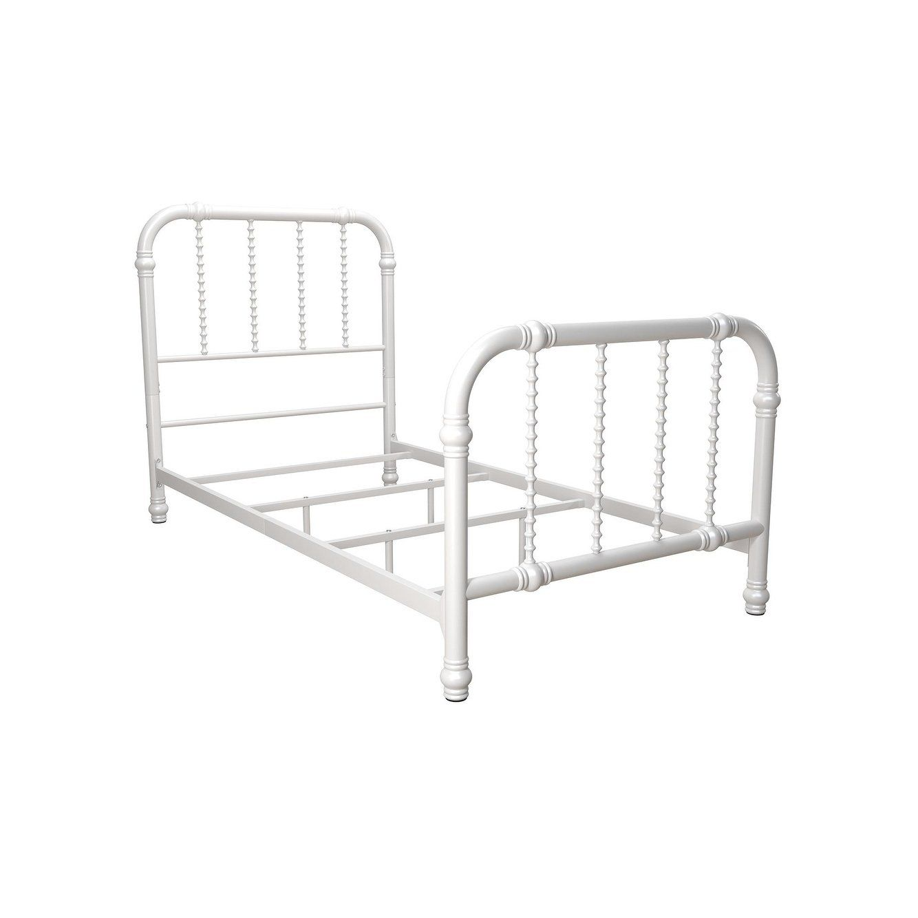 Dhp Jenny Lind Metal Twin Bed White Twin White Metal Bed