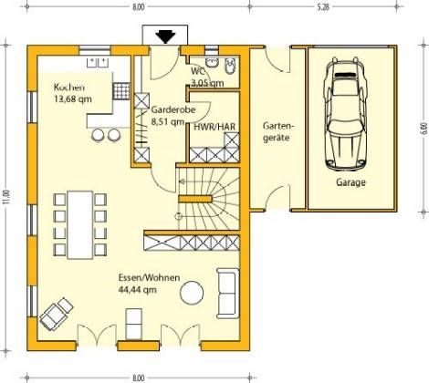 Einfamilienhaus grundriss mit garage  Weißeritz Massivhaus GmbH - Bauen in Tradition | Haus | Pinterest ...