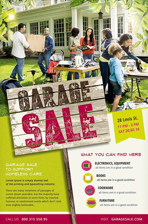 Garage Sale Free Flyer Template  Design    Free Flyer