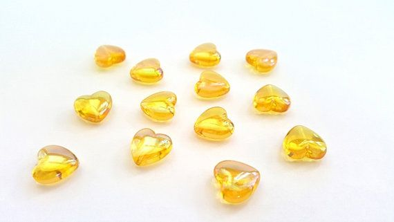 Pretty Yellow AB Acrylic Beads  12 X 12mm by FunkyCreativeJuices