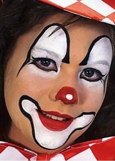 stap-6 | face painting - Easy clown makeup, Clown face ...