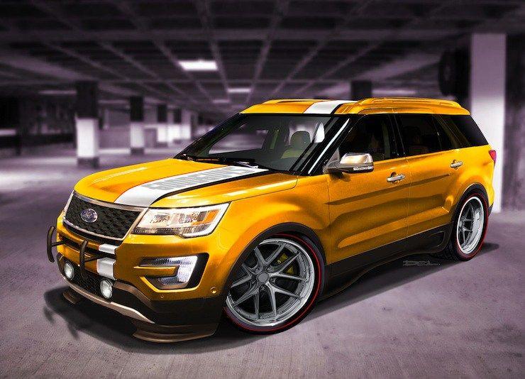 4 Wild 2016 Ford Explorer Sport Models Invade SEMA Ford