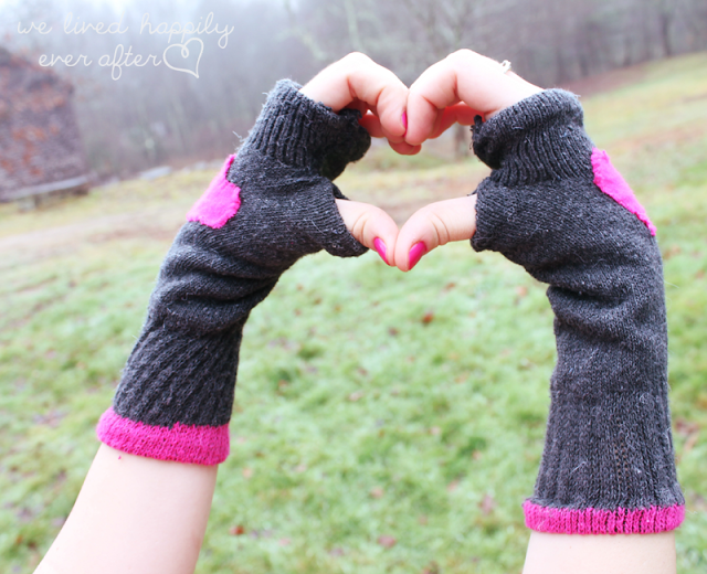Finger-less Gloves made from Socks #glovesmadefromsocks