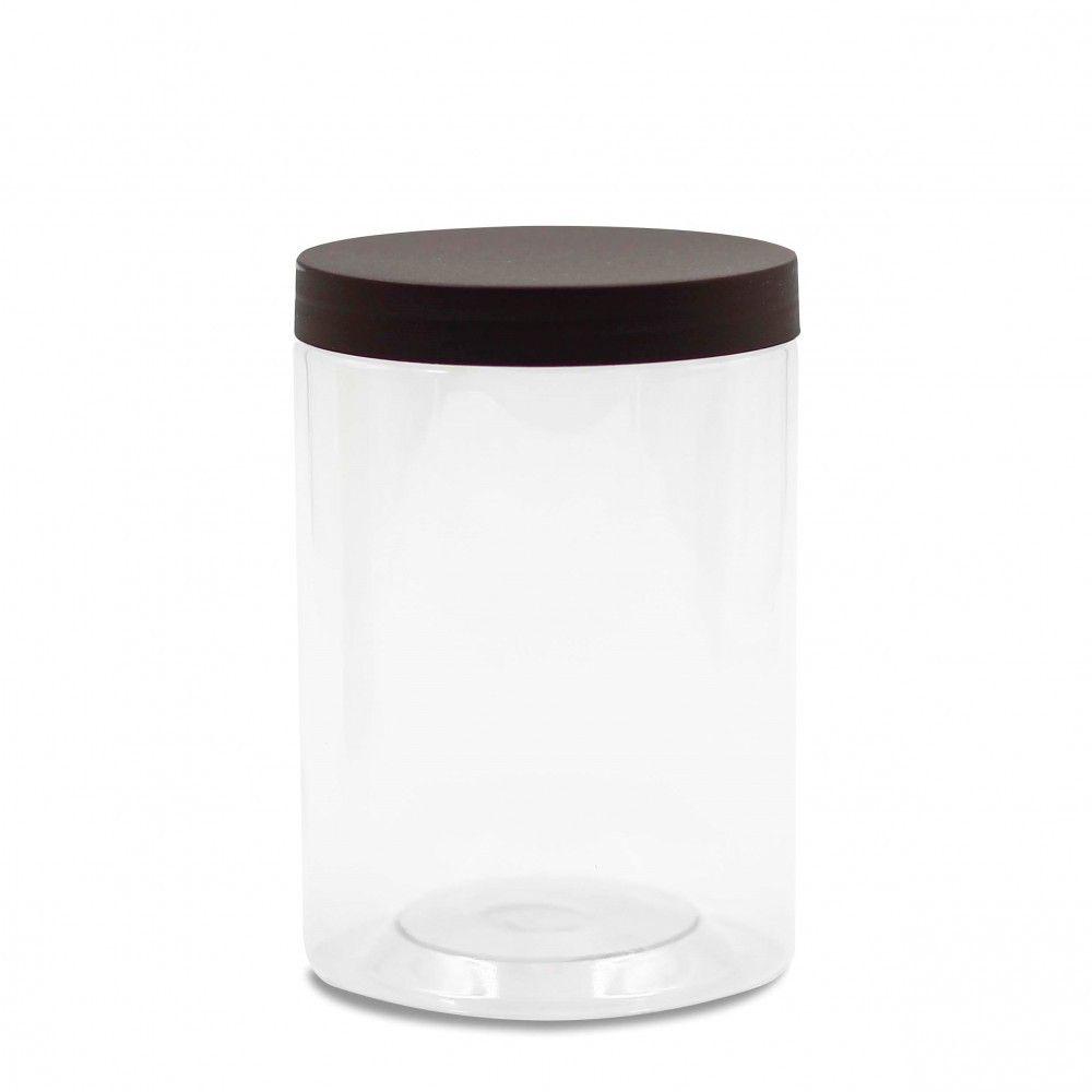 علبة بلاستيك بغطاء بني 550 مل Mugs Glassware Trash Can
