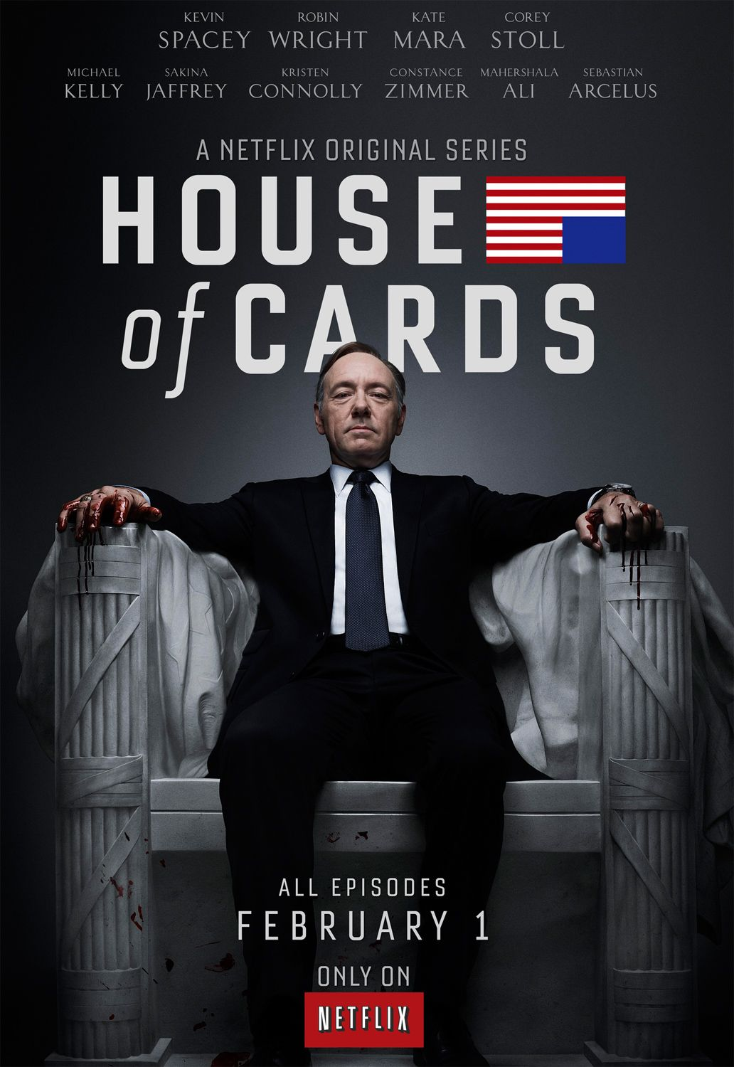 The House Of Cards Season 1 Poster House Of Cards Seasons House Of Cards Netflix House Of Cards