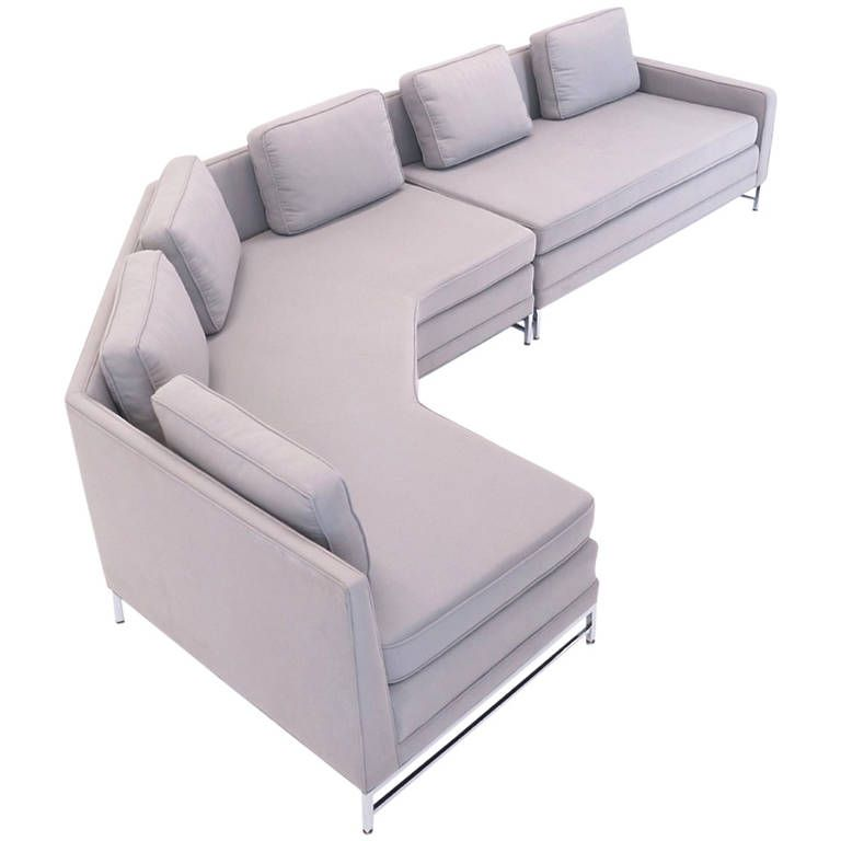 Incredible Paul Mccobb For Calvin Sectional Sofa Two Pieces With Satin Bralicious Painted Fabric Chair Ideas Braliciousco