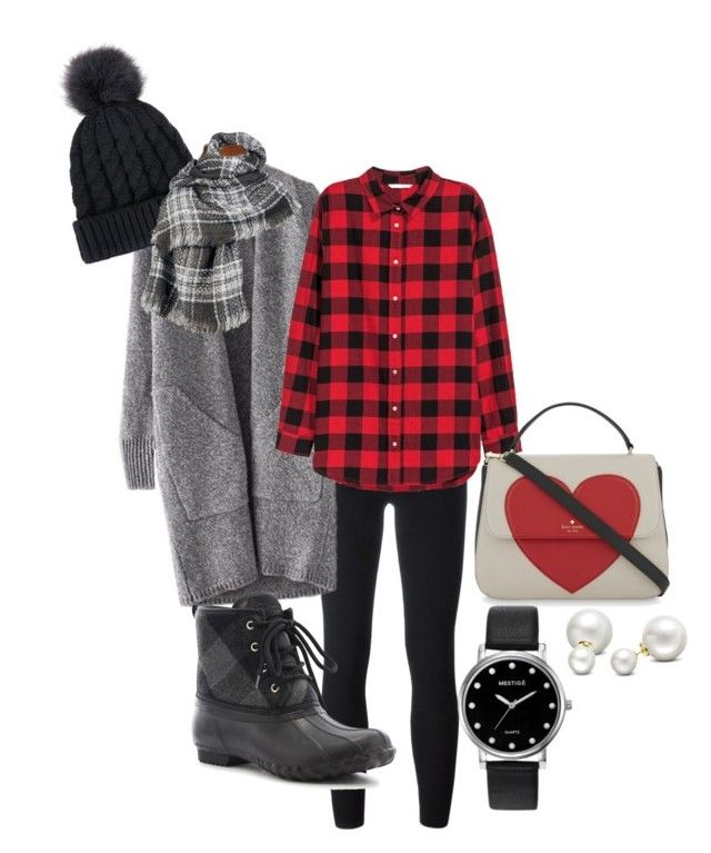 """""""Valentine casual"""" by blue-eyed-sc-girl on Polyvore featuring adidas Originals, H&M, Western Chief, Kate Spade, Mestige, Allurez and Wilsons Leather"""