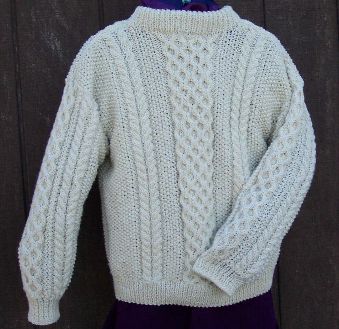 Free Beginner Knitting Sweater Patterns | My Aran sweaters come in ...