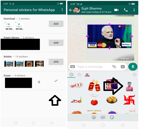 How To Add A Personal Sticker For Whatsapp Sticker Download Stickers Ads