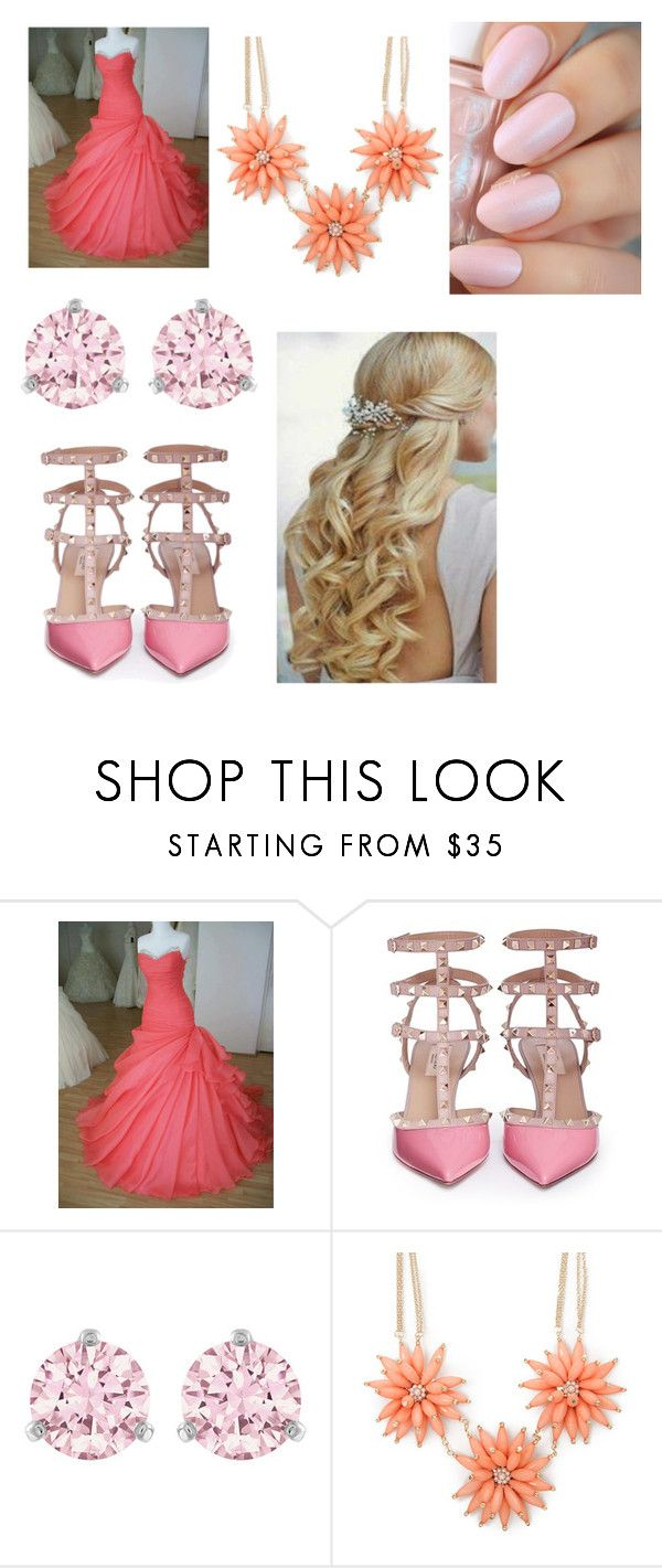 """""""Pink & Pink"""" by sofianat ❤ liked on Polyvore featuring beauty, Valentino and Swarovski"""