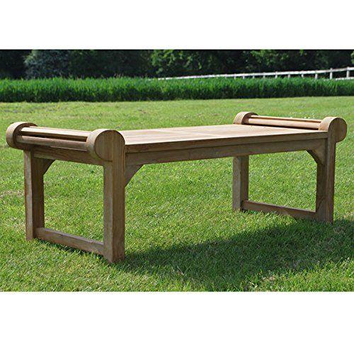 Teak Garden Coffee Table Uk: Traditional Solid Teak Lutyens Wooden Garden Coffee Table