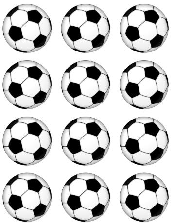 Soccer Ball Cup Cake Toppers Festa De Futebol Festas De Aniversario De Futebol Festa Do Flamengo Simples