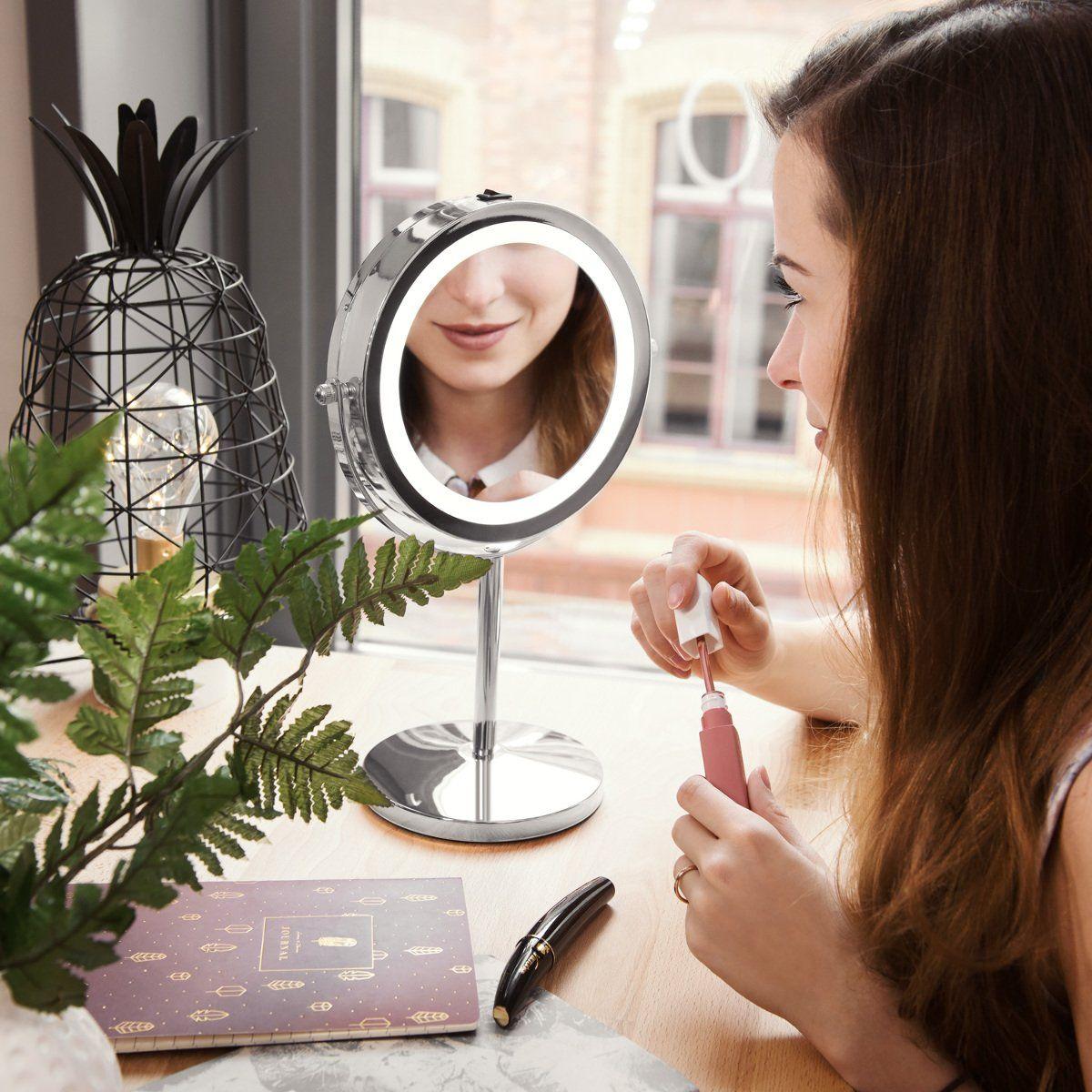 Navaris Kosmetik Makeup Spiegel Beauty Party Kosmetikspiegel Mit Beleuchtung Schminkspiegel Kosmetik