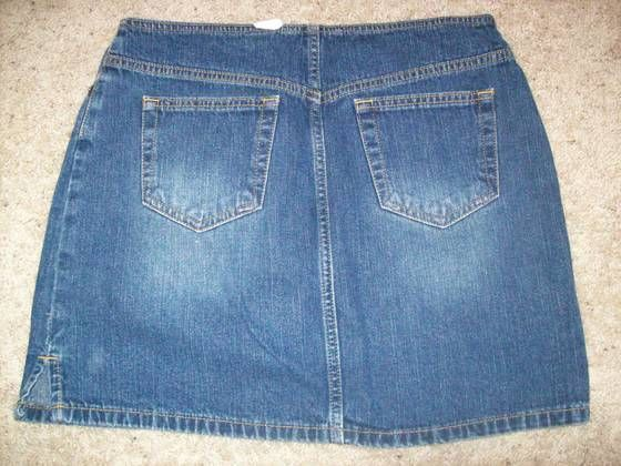 47b9b49a2 So Blue Denim No Waist Factory Faded Straight Jeans Mini Skirt Size 7 @  cLOSeT #fashion #clothing #shoes #accessories #womensclothing #skirts (ebay  link)