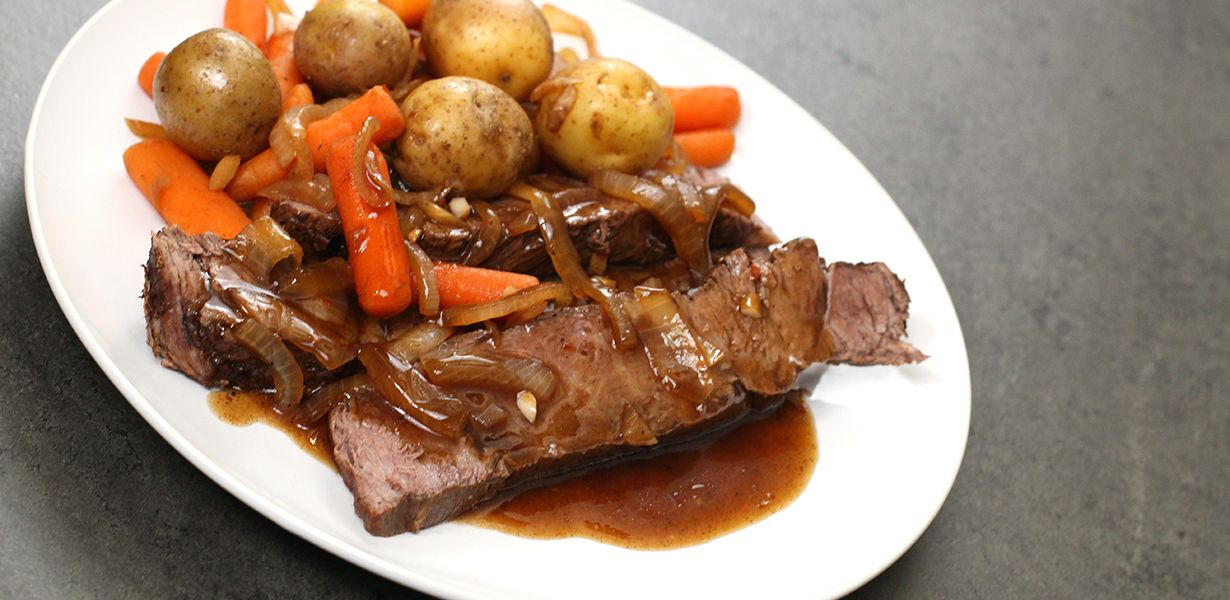 Slow Cooker Balsamic Glazed Roast Beef Recipe With Images Recipes Cooking Recipes Beef