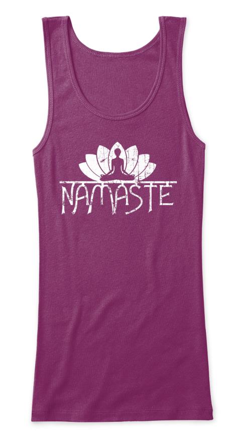 685e3e5ad0 Vintage Namaste Yoga Lotus Flower T-shirts, Tanks and Hoodies. #meditation  #om