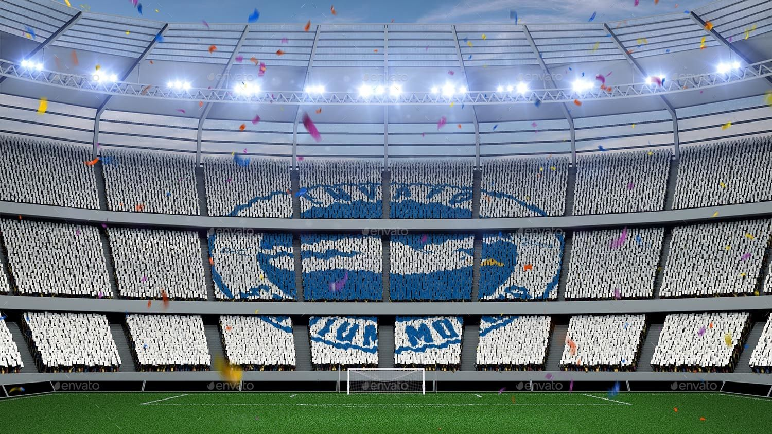 Football Stadium Fans Banners Mockup Ad Stadium Sponsored Football Fans Mockup Football Stadiums Stadium Football