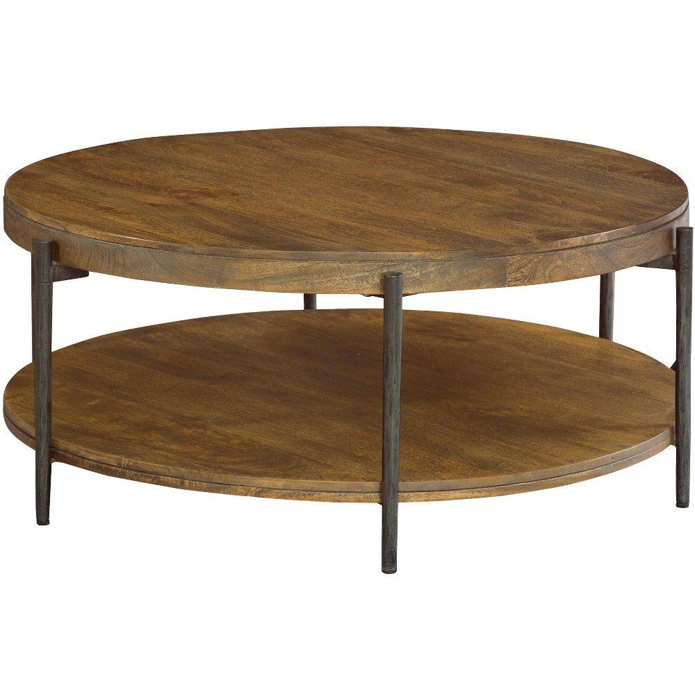 Hekman 23702 Hekman Round Coffee Table 2 3702 Bedford Industrial Style Coffee Table Solid Wood Coffee Table Drum Coffee Table [ 1000 x 1000 Pixel ]