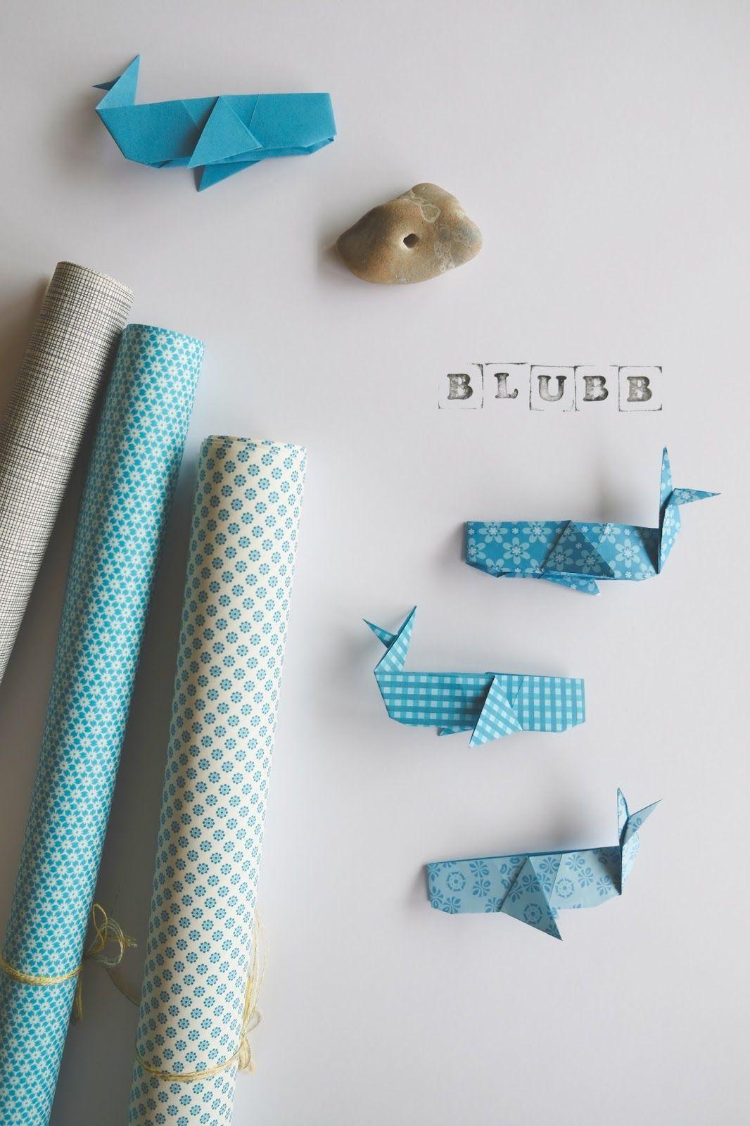 Hej Hanse: Kleine Wal-Girlande #origamianleitungen