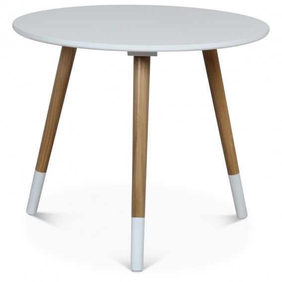 Table basse scandinave blanche vick deco for Table basse scandinave blanche