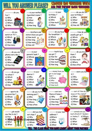 Fill In Adjectives Worksheet Question Words Pair Workconversation Worksheet  Free Esl  Sentence And Fragments Worksheets Word with Comparatives And Superlatives Worksheets Pdf Question Words Pair Workconversation Worksheet  Free Esl Printable  Worksheets Made By Teachers Bill Nye Simple Machines Worksheet Word