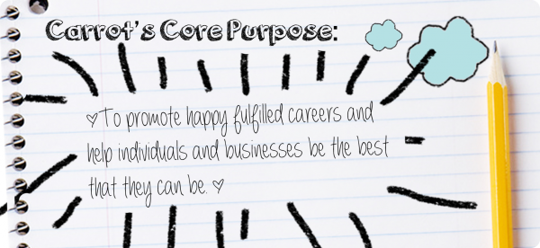 We set down our purpose and values. These provide a guideline and a set of parameters for Carrot behaviours. Leading to a consistent approach to our customers including candidates.