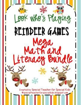 Reindeer Games MEGA Math and Literacy Unit -- 9 Centers with a Fun Winter Theme  $