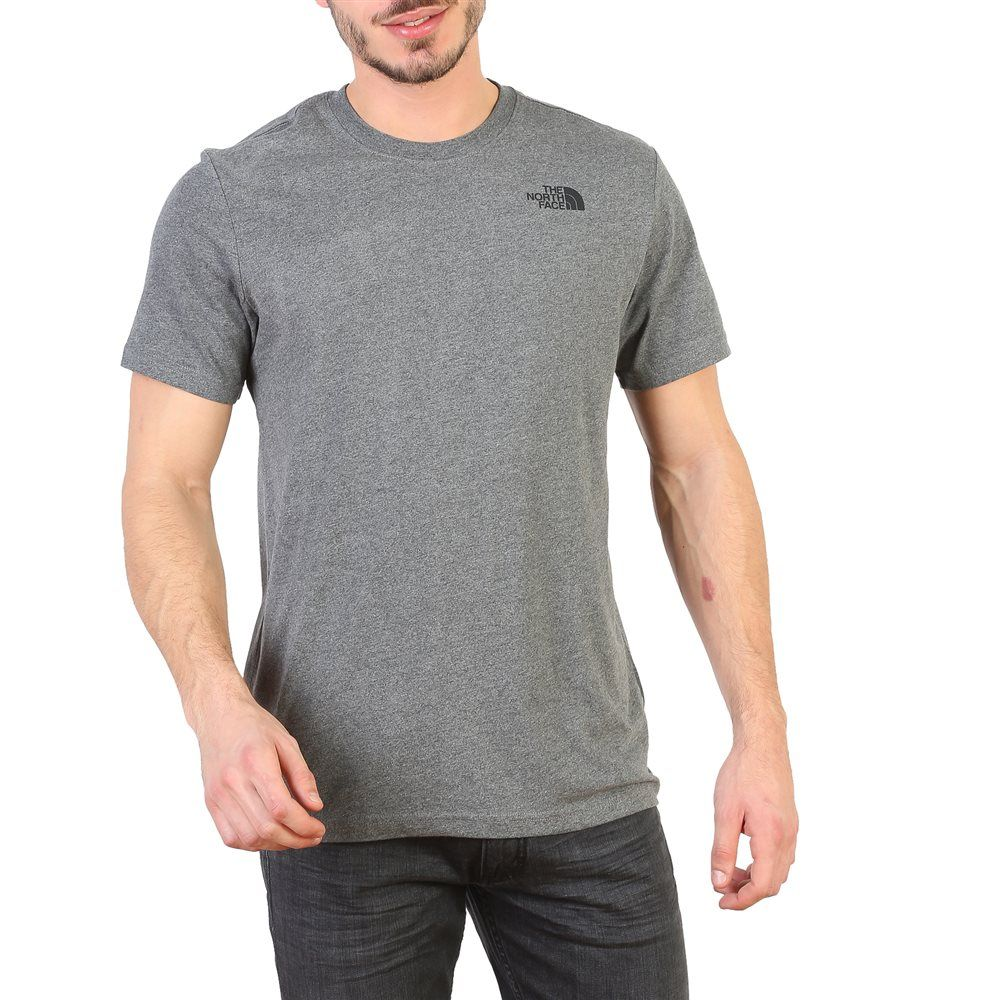 camiseta north face hombre gris