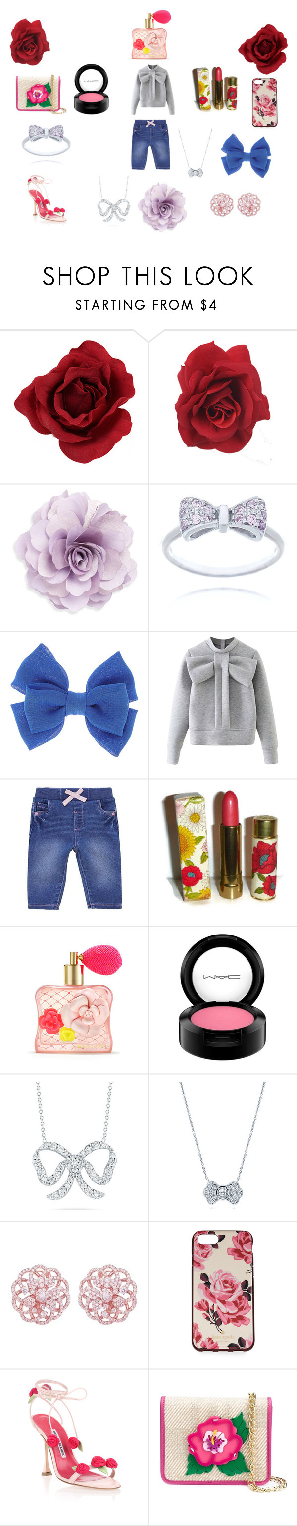 """""""Happy Day Toworrow"""" by ibur-7snowflakes ❤ liked on Polyvore featuring Cara, WithChic, Avon, Victoria's Secret, MAC Cosmetics, Roberto Coin, BERRICLE, Emilio!, Kate Spade and Manolo Blahnik"""