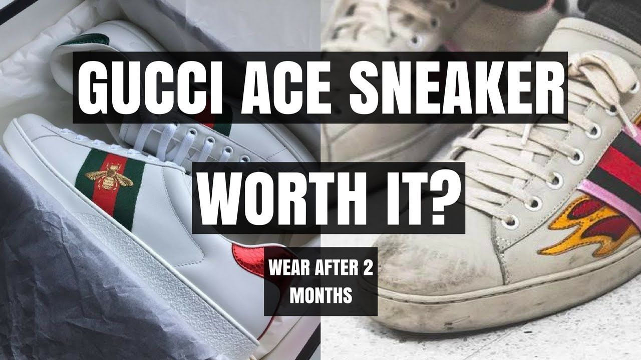 111ff600574 Mens Gucci Ace Sneaker Wear   Tear Are They Worth      - YouTube ...