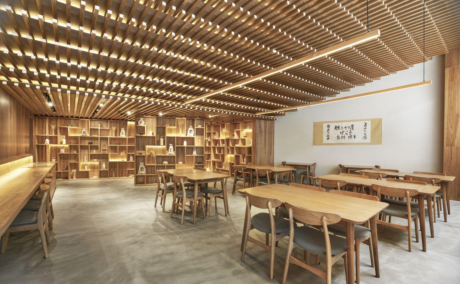 gallery of ginshariya restaurant tsutsumi associates 1 - Beaded Inset Restaurant Interior