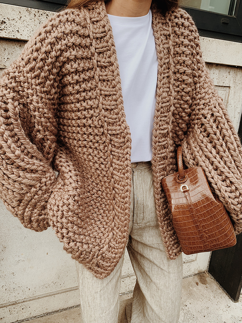 The Chunky Cardigan — MODEDAMOUR