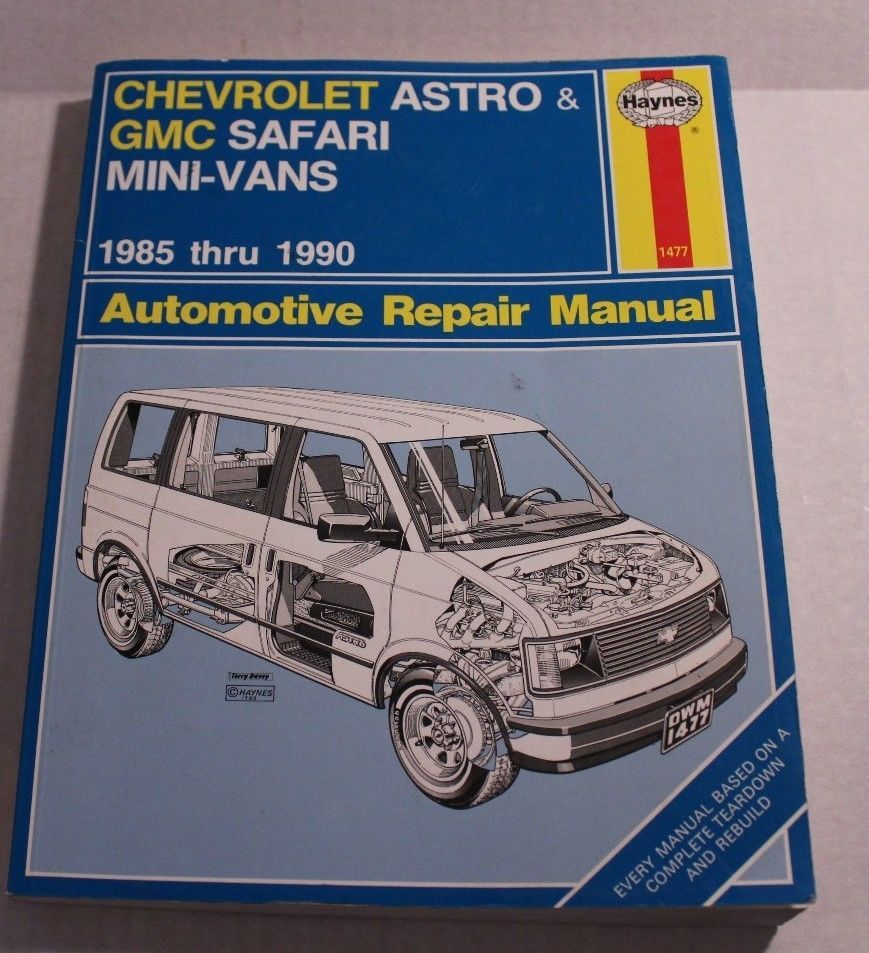 Haynes Chevrolet Astro & GMC Safari Mini-Vans 1985-1990 Repair Manual #1477