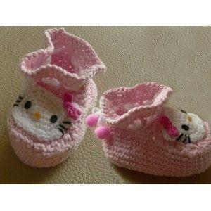 Hello Kitty Infant Infants baby Socks Shoes booties Crochet Pattern