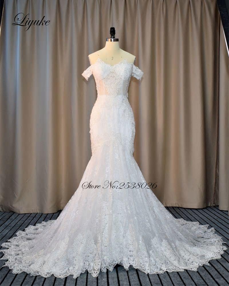 066bb692682 Germoya New Promotional Korean princess wedding dress word shoulder crystal  diamond luxury trailing wedding dress 532