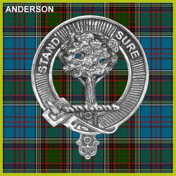 Anderson Clan Crest Badge Skye Decanter | Products