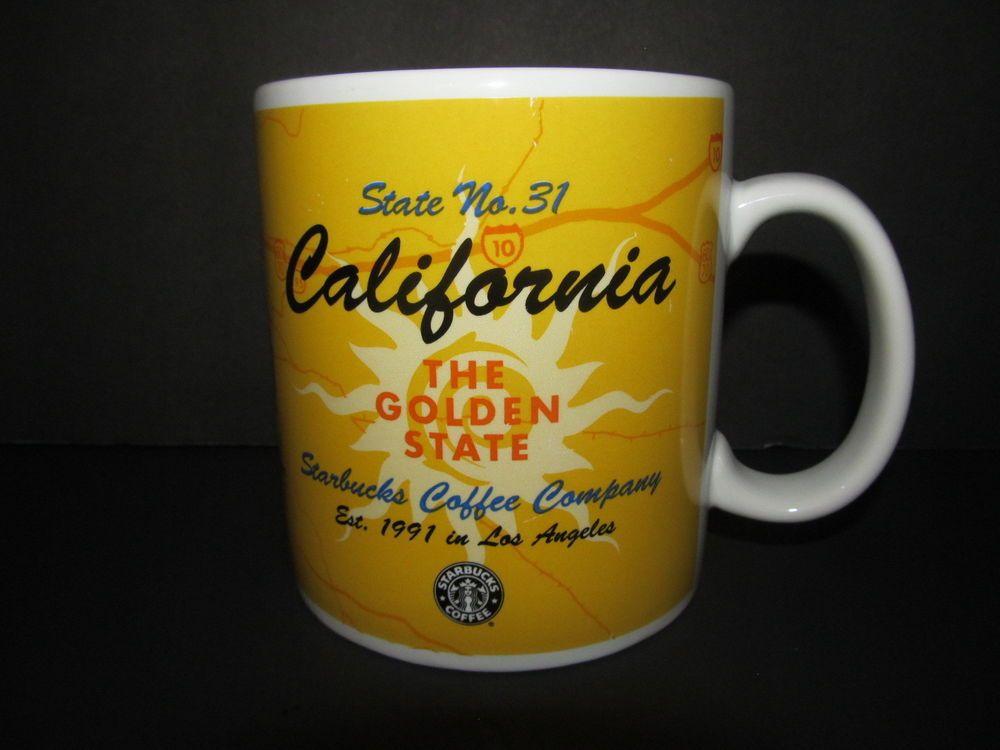 Starbucks California Coffee Cup Large 20 Oz. State No. 31 Series Mug Los Angeles #Starbucks