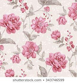 Ilustración de stock sobre las flores son un patró...
