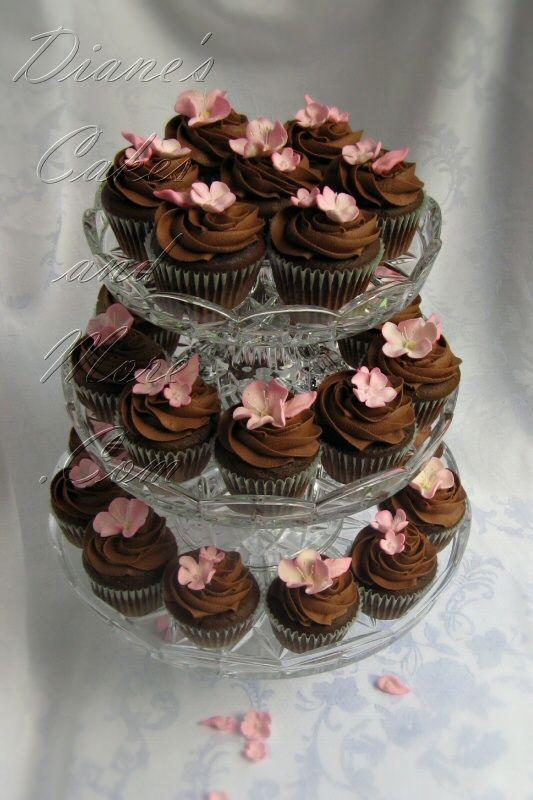 Cherry Blossom Wedding Cupcakes