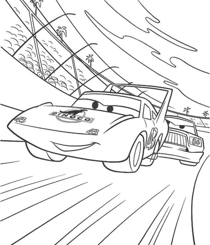 Dinoco 43 Pixar Car Coloring Page Desenhos Para Colorir Carros