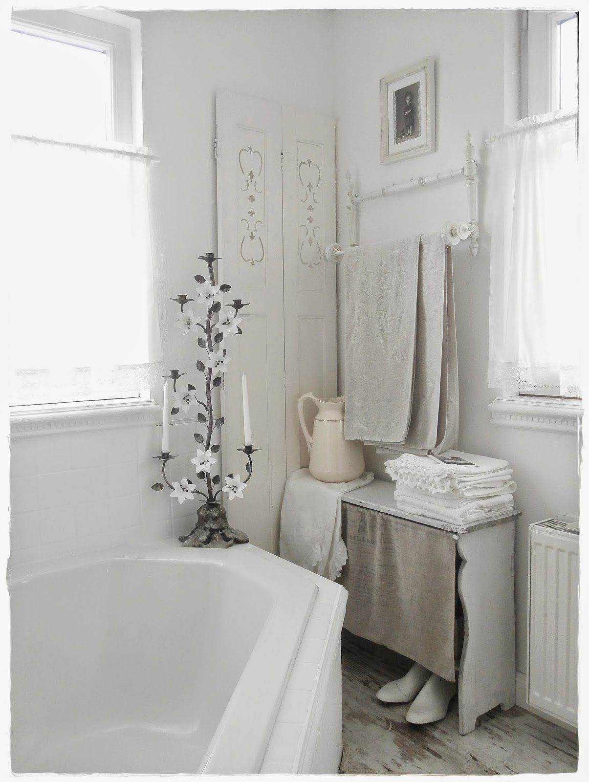 Una favolosa stanza da bagno in stile shabby chic Shabby