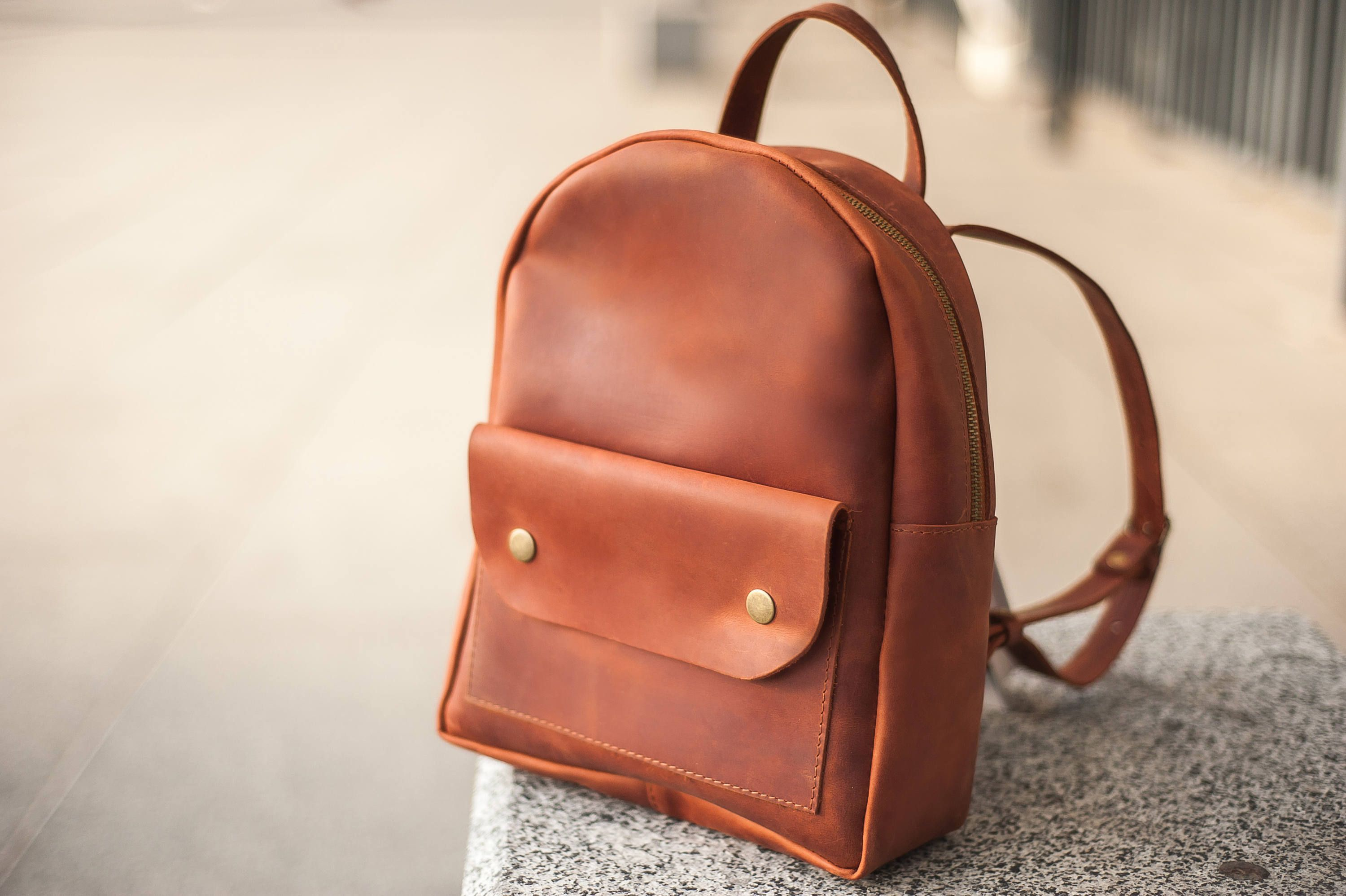 c573475b7eb Mini leather backpack,Leather backpack women,Small Leather Rucksack ...