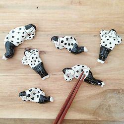 Ceramic chop stick holders