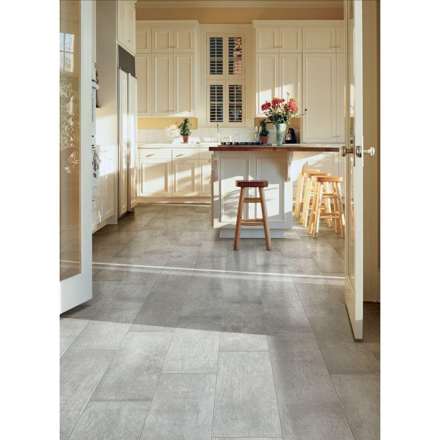 Shop Style Selections Cityside Gray Glazed Porcelain Floor Tile