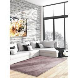 benuta Essentials Hochflor Shaggyteppich Cosy Lila 200×200 cm – Langflor Teppich für Wohnzimmerbenut