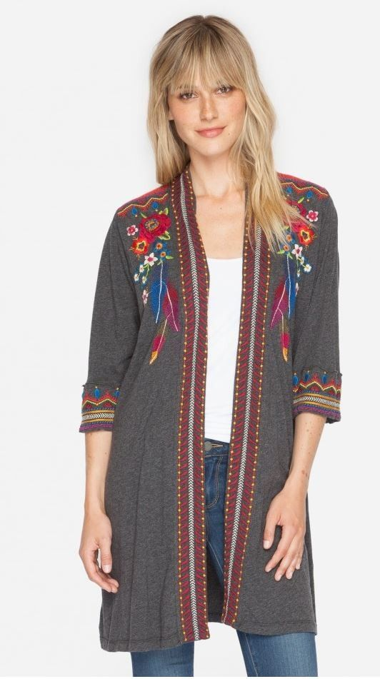 Johnny Was Eeren Duster - cardigan, boho, bohemian, embroidered ...