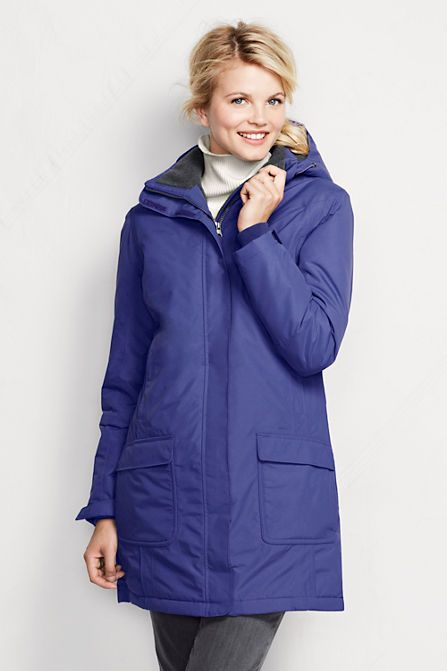 Gorgeous color combo for you. Nice and smooth, with front pockets Women's Insulated Squall Parka from Lands' End