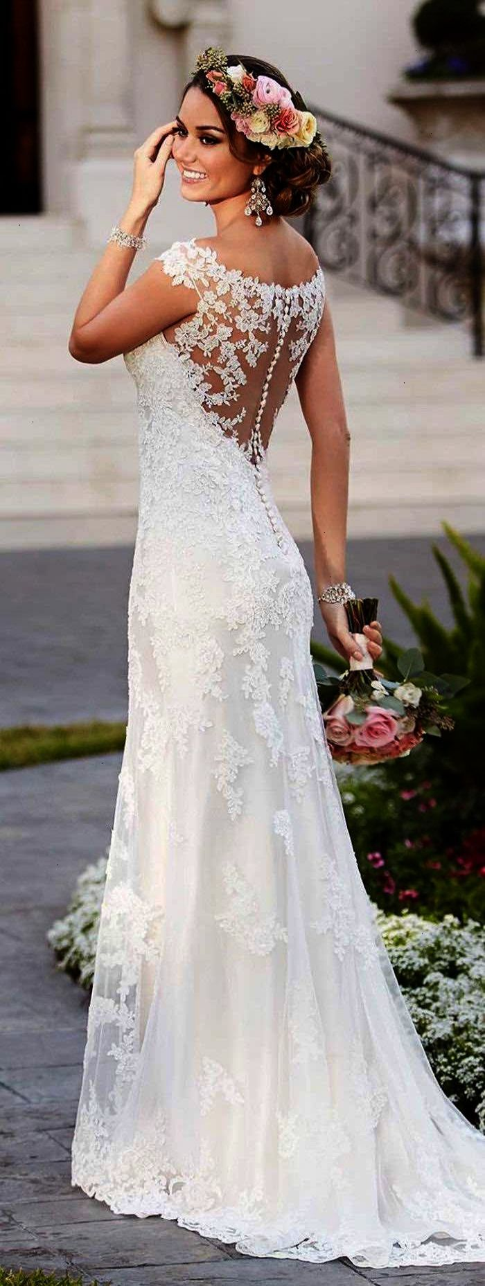 Gorgeous Stella York Lace Wedding Dress Looks Amazing For This Summer Floral Crown Weddingdress Wedding Dresses Popular Wedding Dresses Wedding Dresses Lace [ 1857 x 700 Pixel ]