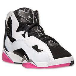 Girls' Grade School Jordan True Flight Basketball Shoes   FinishLine.com    White/